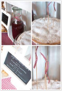 Torta al Limone und Beeren-Holunderblüten-Sauce