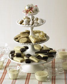 This wonderful recipe for basic shortbread can be used to make Espresso Shortbread,  Chocolate-Glazed Shortbread Fingers,  Lemon-Poppy Seed Glazed Balls, Black-and-White Triangles, and Candied Ginger Shortbread Wedges -- all recipes come from Martha Stewart Holiday: Season's Eatings.