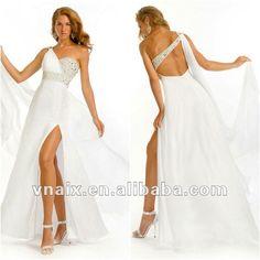 vestidos blanco largo - Buscar con Google Evening Dresses, Prom Dresses, Formal Dresses, Short Long Dresses, Wedding Styles, Sexy, Wedding Decorations, Chiffon, Womens Fashion