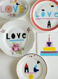 Plates by Ninainvorm on Etsy