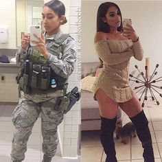 Here we share a new collection of ARMY WOMEN in and out of uniform. These are the 41 professional military women in & out of uniform looking so hot. Military Girl, Military Dating, Female Soldier, Army Soldier, Military Women, Girls Uniforms, Dressed To Kill, Jung Kook, Professional Women