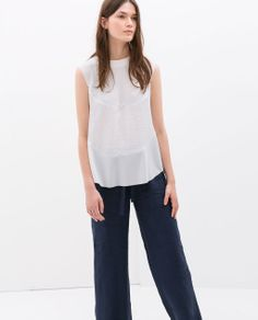 Image 2 of COMBINED TOP WITH SLITS from Zara