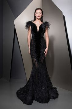 MaySociety — Ziad Nakad Ready To Wear Fall/Winter Gala Dresses, Couture Dresses, Fashion Dresses, Elegant Dresses, Pretty Dresses, Beautiful Dresses, Bridal Gowns, Wedding Dresses, Elegantes Outfit