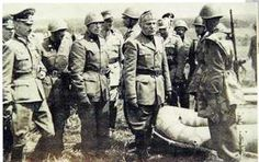 RSI San Marco division. 15 july 1944: Mussolini inspect training camp in Germany, pin by Paolo Marzioli
