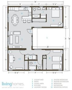 Lay out of an eco friendly home.