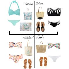 5sos preference- Day at the beach