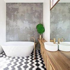COCOON modern bathroom inspiration bycocoon.com | Elle Decoration | tiles | bathroom taps | copper fittings | freestanding bathtubs | bathroom design products | renovations | interior design | villa design | hotel design | Dutch Designer Brand COCOON