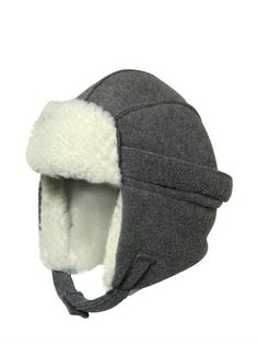IL GUFO - FAUX SHEARLING HAT - GREY