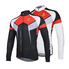 Arsuxeo Men's Breathable Long Sleeve Bicycle Cycling Jersey – CAD $ 31.96