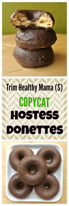 Trim Healthy Mama (S) Copycat Hostess Donettes Collage