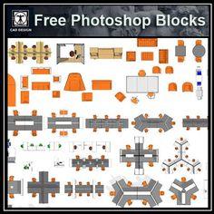 Free Photoshop PSD Office Blocks