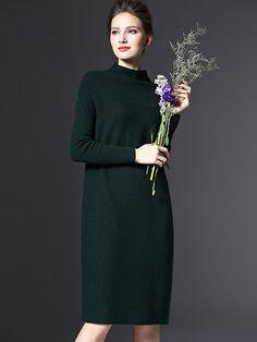 Long Turtlenecks Pullovers Winter Women Warm Sweater Dress Autumn Casual Loose Knitted Sweaters Female Pullover Plus Size Wool Dress, Knit Dress, Sweater Dresses, Warm Sweaters, Sweaters For Women, Online Shopping, Mi Long, Fall Dresses, Pulls