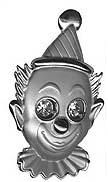 CLOWN PIN MADE OF PEWTER