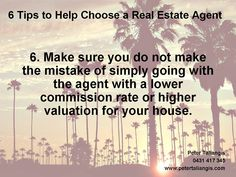6 tips to help choose a real estate agent tip 6