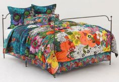 floral landscape quilt | twin quilt 68 x 86 cotton dry clean imported one matching twin bed ...