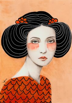 MeetSofia Bonati, anArgentinian-born artist who's currently living and working in the UK. These gorgeous ladies appear to be her...