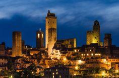 """San-Gimignano by night - """"Het Manhattan van de middeleeuwen"""""""