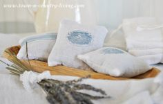 How to make lavender sachets - tuck them in drawers, blanket chests, or set out in a bowl for wonderful fragrance.