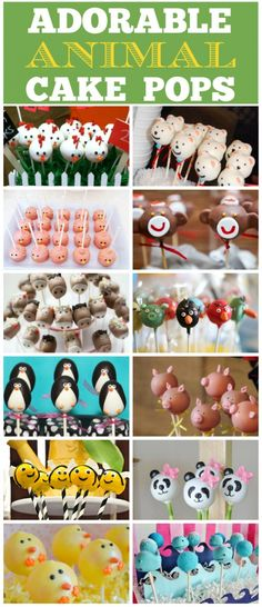 Cute animal cake pops you won't want to miss! Mini Cakes, Cupcake Cakes, Animal Cake Pops, Paletas Chocolate, Cake Pop Designs, Gateaux Cake, Cookie Pops, Marshmallow Pops, Decorated Cookies