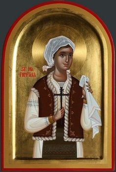 Filothea of Romania by Ursutz Gabriel Medieval Crafts, Byzantine Icons, Orthodox Icons, Writing Inspiration, Style Icons, Christianity, Saints, Statue, Princess Zelda