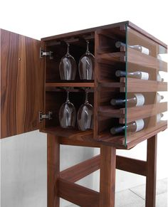 Curio Wine Server - Storage, table, in one.