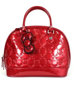 - HELLO KITTY TANGO RED PATENT EMBOSSED TOTE LOUNGEFLY OFFICIAL WEBSITE $70.00