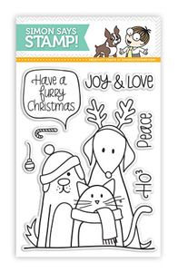 Simon Says Clear Stamps FURRY CHRISTMAS Friends Pets    Manufacturer: Simon Says Clear Stamps  SKU: sss101204 $5.99