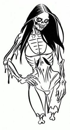 zombie bikini babe