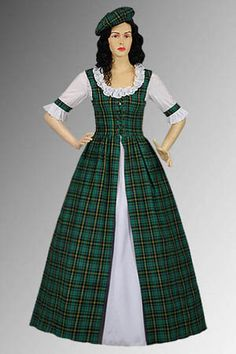 Scottish Traditional Clothing | Details about Scottish Tartan Two-Piece Traditional Dress Handmade in ...shorter version potential costume