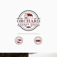 Orchard Avenue Press - Timeless logo needed for company that promotes agriculture and dairy farms.