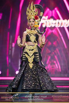 Miss Grand Thailand, 2017 - Thailand National Costume, Thailand Costume, Chase Costume, Costume Dress, Traditional Thai Clothing, Traditional Outfits, Miss Universe 2014, Victoria Secret Show, Circus Costume