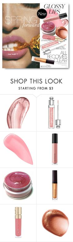 """""""#Glossy Lips - Spring Forward"""" by nikkisg ❤ liked on Polyvore featuring beauty, Chantecaille, Christian Dior, Kevyn Aucoin, Bare Escentuals, Laura Mercier, Smith & Cult and glossylips"""