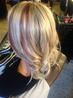 Blonde with subtle red lowlights