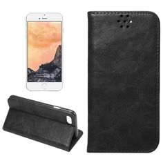 [$2.79] For iPhone 7 Crazy Horse Texture Auto Closed  Horizontal Flip Leather…