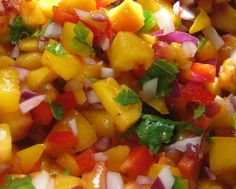 Peach salsa is a summer favorite that can be enjoyed with tortilla chips or overtop grilled meats. It is nightshade-free for those who can& tolerate them Peach Salsa Recipes, Apricot Recipes, Apricot Ideas, Guacamole, Nightshade Free Recipes, Healthy Summer Recipes, Grilled Meat, Grilled Fish, Grilled Chicken