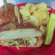 Today's special Sammich!! TUCO-Grilled Chicken with chorizo peppers onions provolone with chipotle aioli on brioche.With pickle  chips or a side$12.00 #knoxrocks #knoxville #sandwich  Holly's Gourmets Market  #Knoxville #Catering #Wedding #Lunch #Breakfast #Restaurant