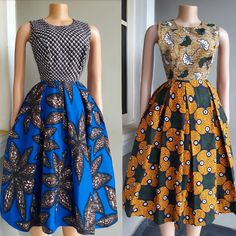 Print A or B 🤩🤩🤩 Both dresses are available to order in sizes ______ Pric Nigerian Dress Styles, Ankara Short Gown Styles, Short African Dresses, Latest African Fashion Dresses, African Print Dresses, African Print Fashion, Africa Fashion, African Prints, Ankara Dress