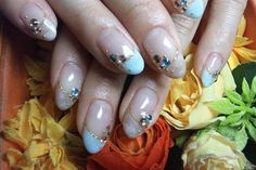 Classic nail art. .. with bling stones