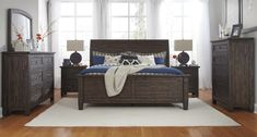 Update the look of your bedroom with the trendy and vintage style of the Trudell bedroom collection. Features include a solid pine construction finished in a weathered golden brown hue with subtle wire brushing and varying natural distressed accents. See it today in the Outlet of our Lancaster Showroom!