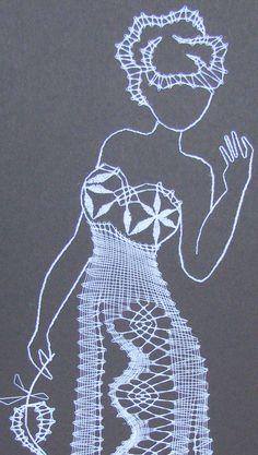 Resultado de imagen de paličkovaná krajka podvinky Bobbin Lace, Lady, Silver, Vintage, Images, Decor, Lace, Chrochet, Women