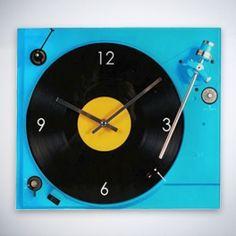 Horloge Murale Tourne Disque - MisterDiscount