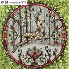 "☞ link ""johannabasford_repost""  secret garden  enchanted forest  lost ocean  magical jungle  johanna's christmas ☟ the real Johanna Basford"
