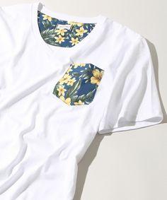 WEGO MEN'S(ウィゴーメンズ)のWEGO/Vネックポケット柄Tシャツ(Tシャツ/カットソー) ホワイト