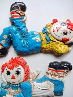 Vintage Set of Raggedy Ann and Andy Wall by WylieOwlVintage, $16.50