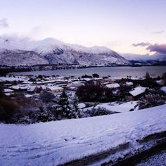 Wanaka blanketed by snow