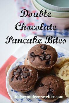 Summer is no time to be in the kitchen. Here's an easy breakfast double chocolate pancake bites recipe that is sure to please everyone around your table. Chocolate Pancakes, Chocolate Flavors, Chocolate Recipes, Pancake Bites, Pancakes Easy, Salty Cake, Brunch Party, Quick And Easy Breakfast, Breakfast Recipes
