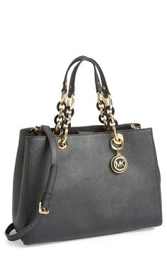 MICHAEL Michael Kors 'Cynthia' Saffiano Leather Satchel available at #Nordstrom