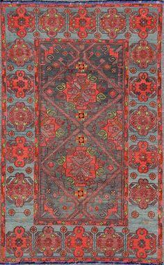 """Antique Kilim Rug - TU-NED-568   Kilim - 6'6"""" x 10'0""""   Wool  - All Over - Flat Weave, Origin Turkey, Circa: 1920"""