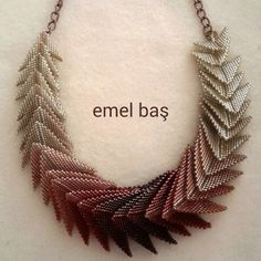 Peyote necklace by Emel Bas from Turkey