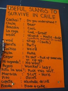 How to speak chilean